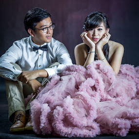 am i cute by Kucluk Oye - People Couples ( prewedding, wedding, pink, gown, couple )