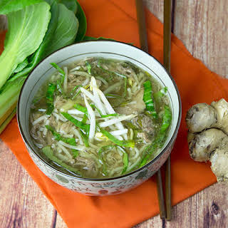 Slow Cooker Pork & Noodle Soup.