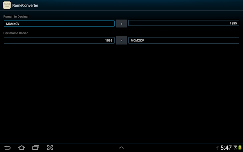 Roman Numeral Converter - screenshot thumbnail