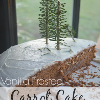Carrot Cake & Mini Christmas Trees