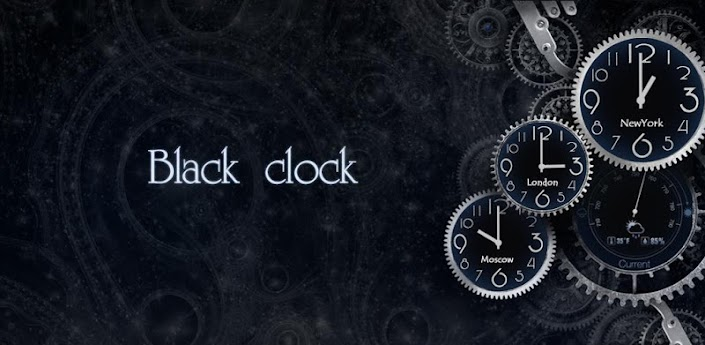 Black World Time Clock Android Live Wallpaper Android Free