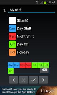 Shift Work Calendar - screenshot thumbnail