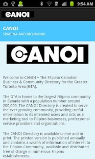 CANOI Filipino Directory - screenshot thumbnail