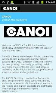 CANOI Filipino Directory - screenshot thumbnail