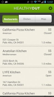 HealthyOut Healthy Meal Finder- screenshot thumbnail