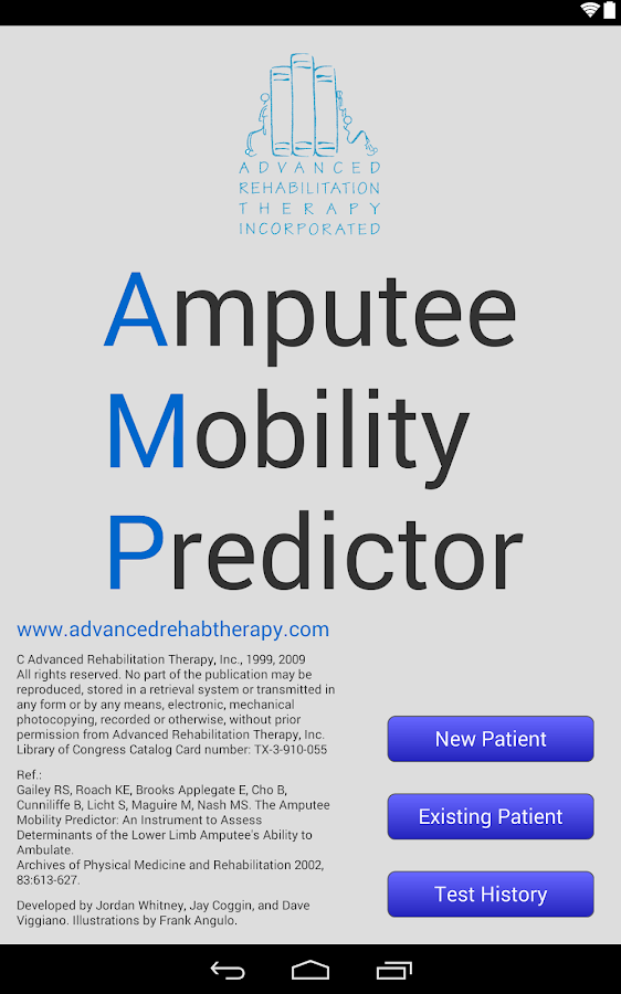 Amputee Mobility Predictor- screenshot
