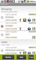 Screenshot of Rich notes
