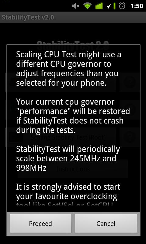 StabilityTest (ROOT optional)– skärmdump