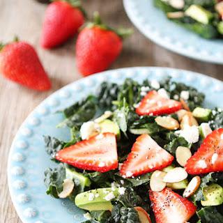 Kale, Strawberry & Avocado Salad with Lemon Poppy Seed Dressing