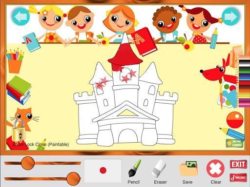 着色ゲームの城