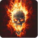 Magic Effect Skull in Fire LWP