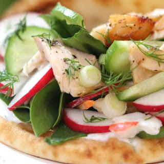 Seafood Veggie Flatbread
