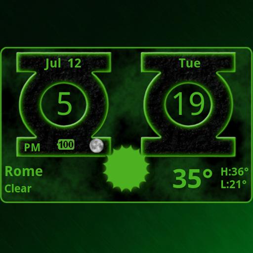 Green Lantern Weather Clock