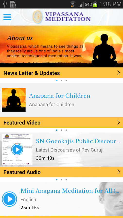 Vipassana Meditation- screenshot