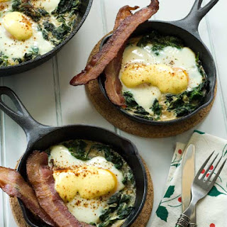 Gluten Free Home For The Holidays & Baked Eggs Florentine
