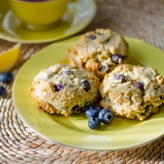 Paleo Lemon Blueberry Scones