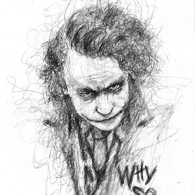 Why So Serious??? Here's a scribble by me.... by Ashwini Dey - Drawing All Drawing ( sketch, joker, art, ashwini dey, serious, drawing )