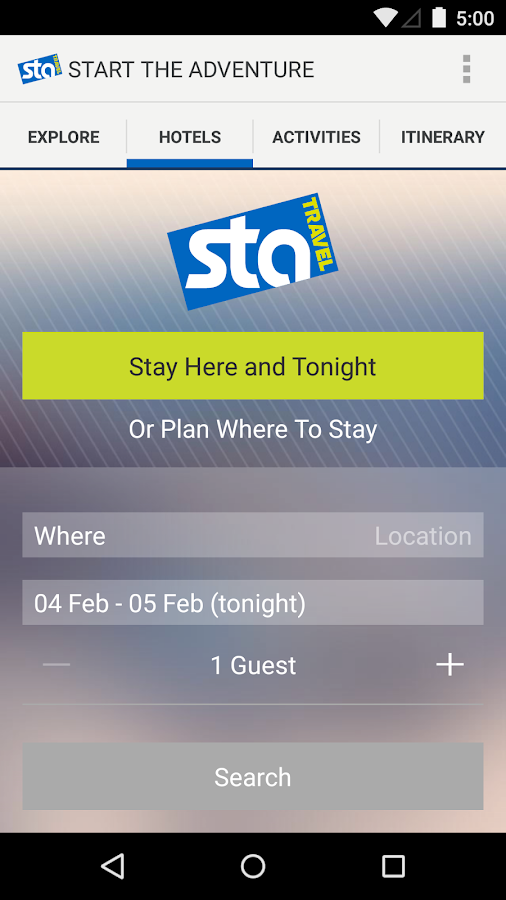 STA Travel - screenshot
