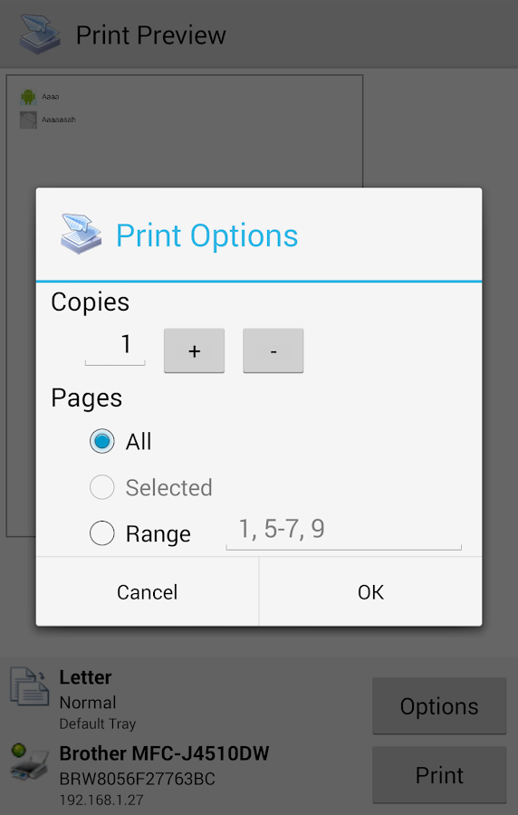 PrinterShare Mobile Print - screenshot