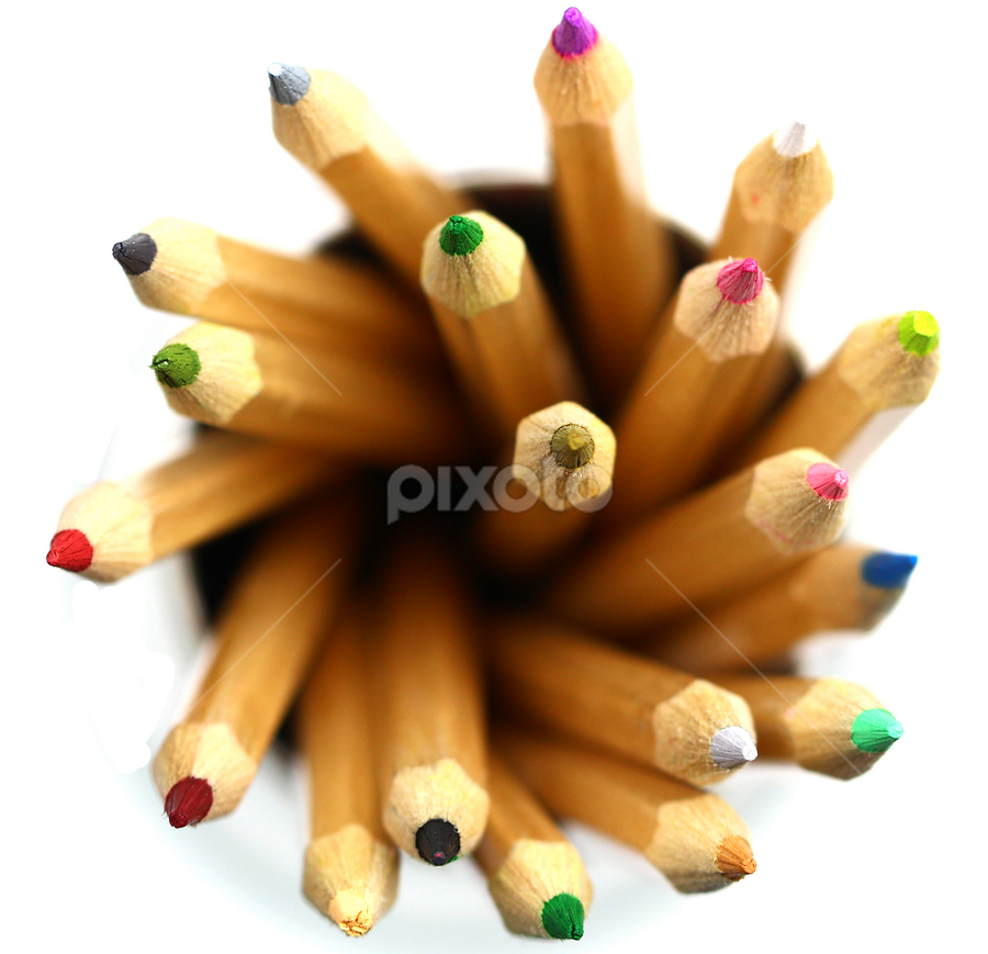 by Dipali S - Artistic Objects Education Objects ( office supply, isolated on white, variation, writing instrument, education, art and craft equipment, multi colored, business, photography, graph, vibrant color, pencil drawing, industry, arts and entertainment, spectrum, in a row, group of objects, school supplies, colors, art, white, bar graph, pencil, wave pattern, pattern, chart,  )
