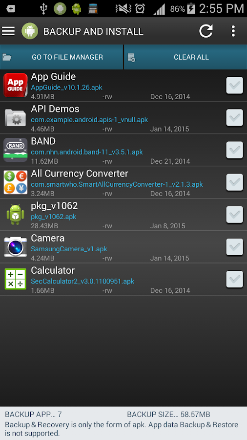 Smart App Manager - screenshot