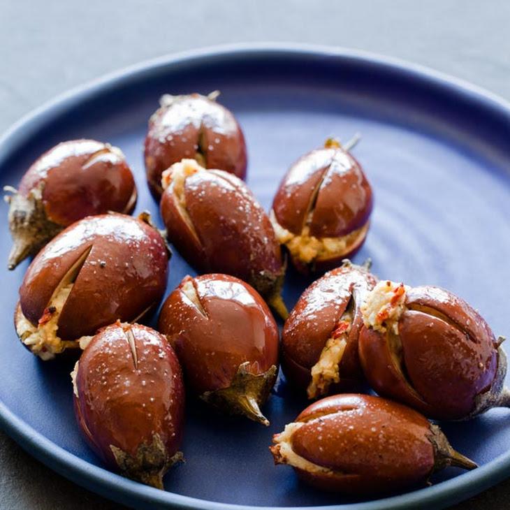 Roasted & Stuffed Baby Eggplants Recipe