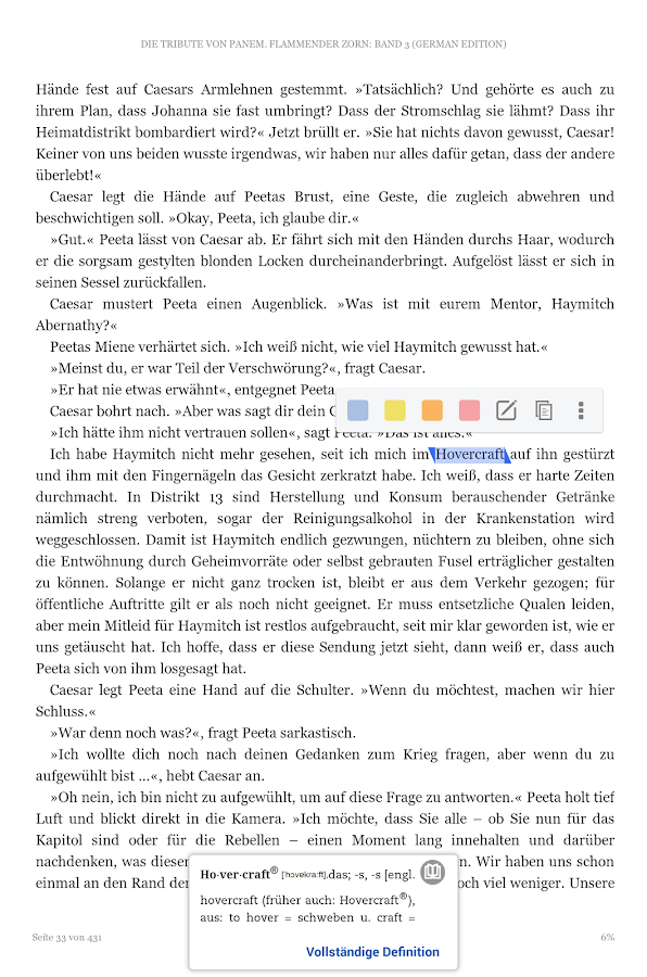 Kindle – Screenshot