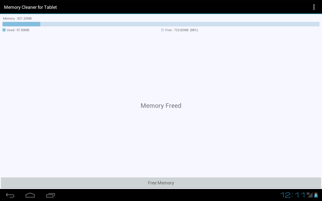 Memory Cleaner for Tablet - screenshot