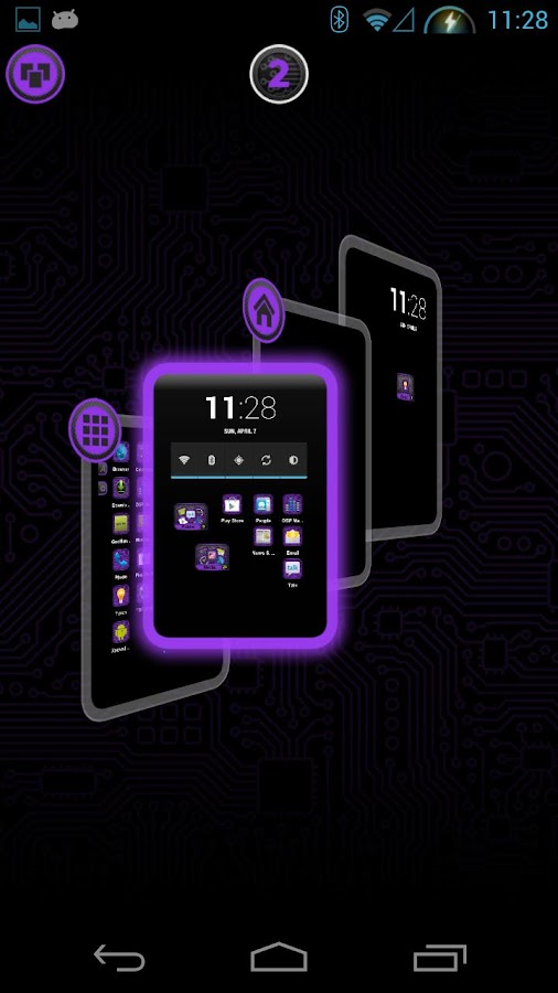 PCB Purple HD TSF Shell Theme - screenshot