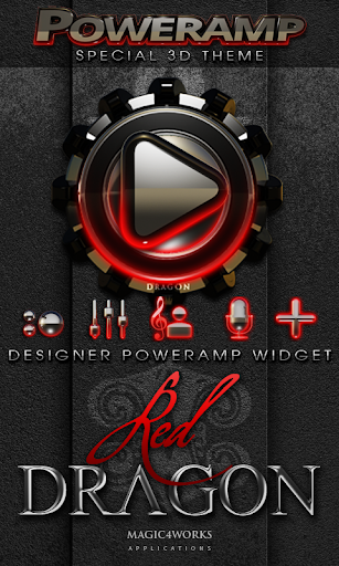 Poweramp Widget Red Dragon