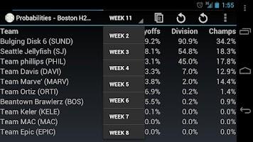 Screenshot of Fantasy Playoff Predictor Free