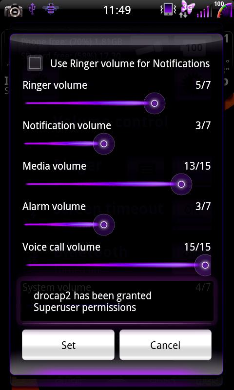 Mixer Purple - CM7 Theme - screenshot