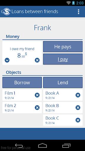 Loans between Friends