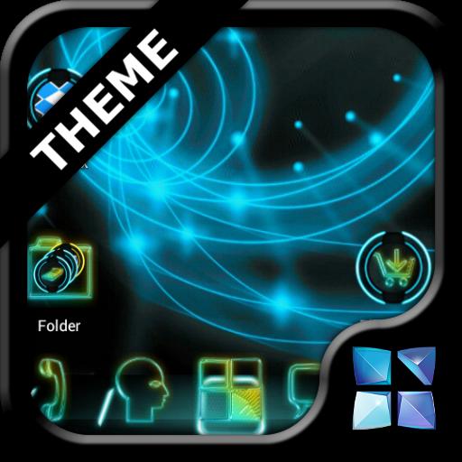 Next Launcher Neon Theme