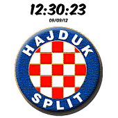 HNK Hajduk Split Digital Clock