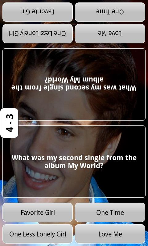 Justin Bieber Test Quiz - screenshot