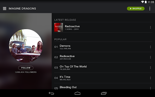 Spotify Music 1.1.1.162 APK Android