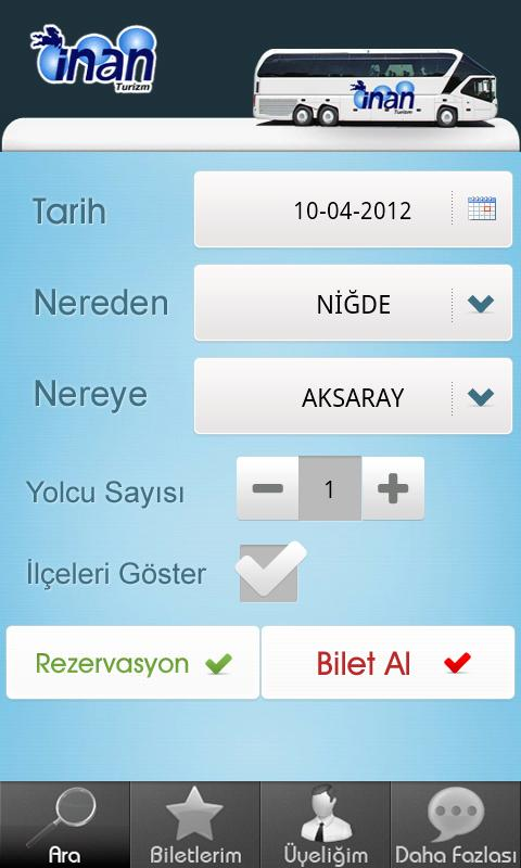İnan Turizm- screenshot