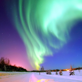 3D Aurora HD live wallpaper