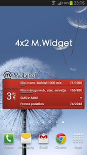 M.Widget - poraba za Mobitel - screenshot thumbnail