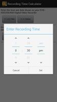 Screenshot of Recording Time Calculator