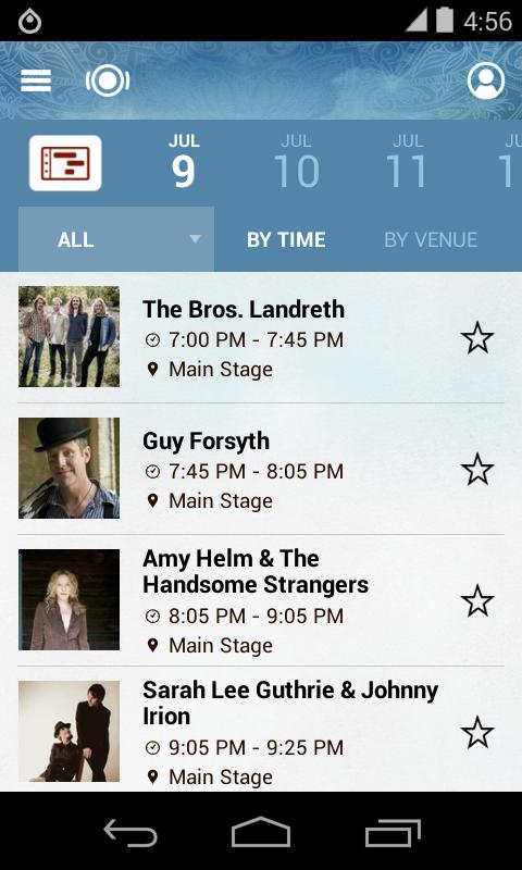 Winnipeg Folk Fest 2014 - screenshot