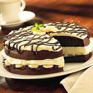 Chocolate Banana Cream Cake