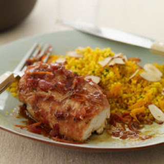Tangerine Barbecue Chicken and Curry Couscous.