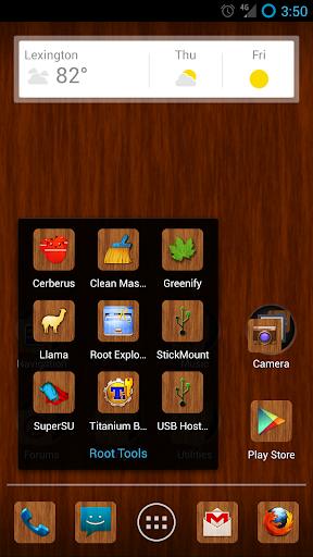 Wood Grain Apex Nova Icon Pack
