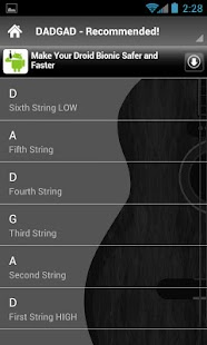 Guitar Tunings Lite- screenshot thumbnail
