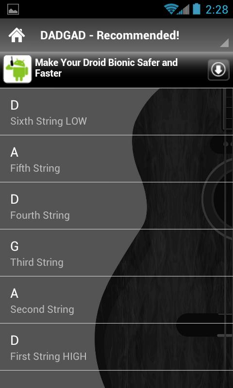 Guitar Tunings Lite- screenshot