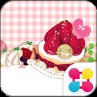 粉色甜點&方格條紋布 主題 icon