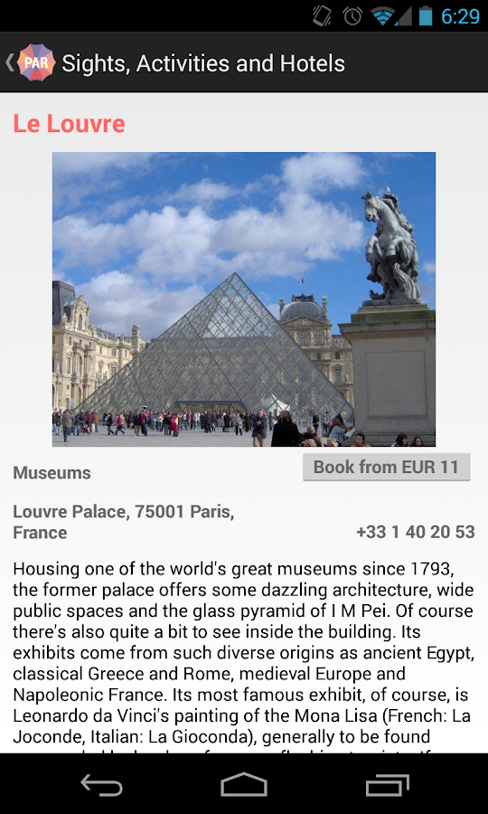 Holidayen Paris Guide - screenshot