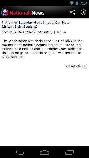Washington Baseball News for PC